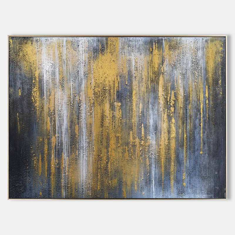 Extra Large Gray And Gold Wall Art Oversized Wall Art For Living Room