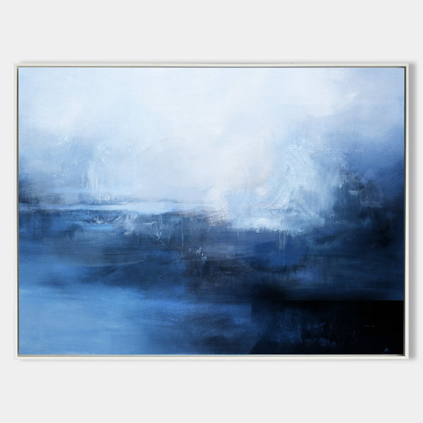 Ocean Wall Art Blue Coastal Wall Art Large Coastal Wall Art Framed abstract seascape paintings