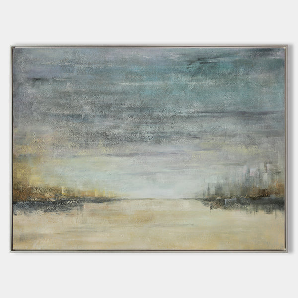 Abstract Beach Art Extra Large Sky And Sea Painting Modern Seascape Paintings