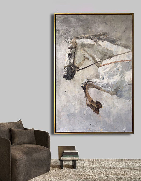Horse Art Horse Abstract Painting Horse Portrait Painting On Canvas Large Horse Wall Art Equestrian Art