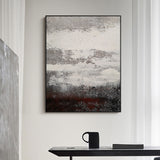 Grey And White Abstract Painting Original impressionism abstract Canvas Art Grey Canvas Wall Art Modern Abstract Paintings For Living Room