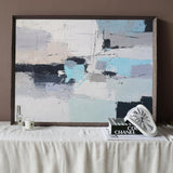 Original Large Abstract Seascapes Painting Impressionist Beach Canvas Wall Art