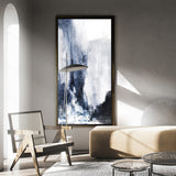 Large Vertical Contemporary Art Blue White Canvas Art Large Original Abstract Painting
