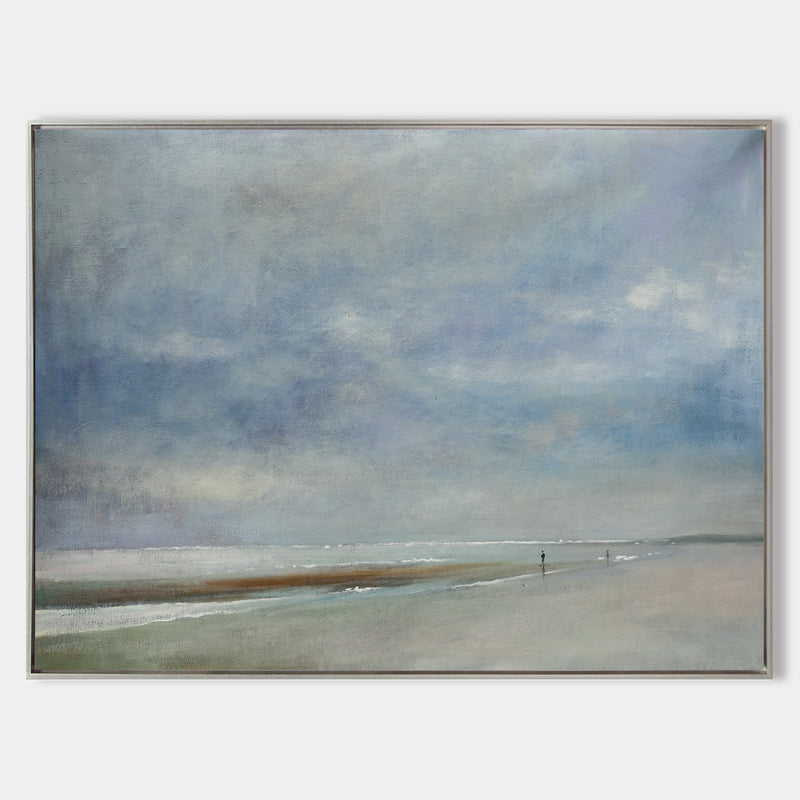 Beach Abstract Painting Large Sky And Sea Painting Seascape Painting
