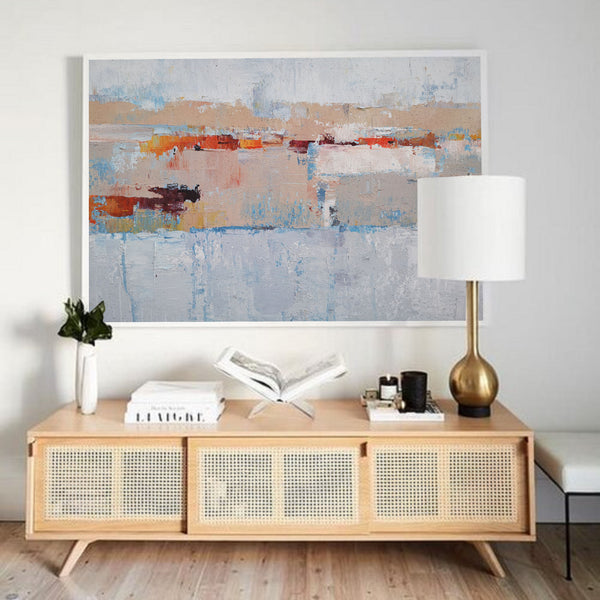Acrylic Abstract Landscape Painting Extra Large Contemporary Abstract Painting On Canvas Grey Abstract Painting