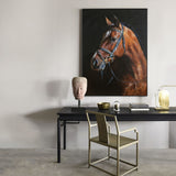 Equestrian Fine art Large Horse Painting Rustic Horse Wall Art Draft Horse Art