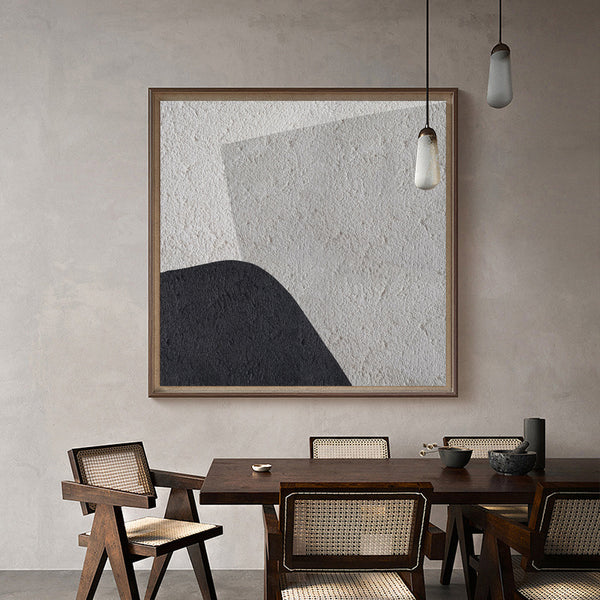 Shades Of Grey Painting Abstract Geometric Minimalist Painting Gray White Black