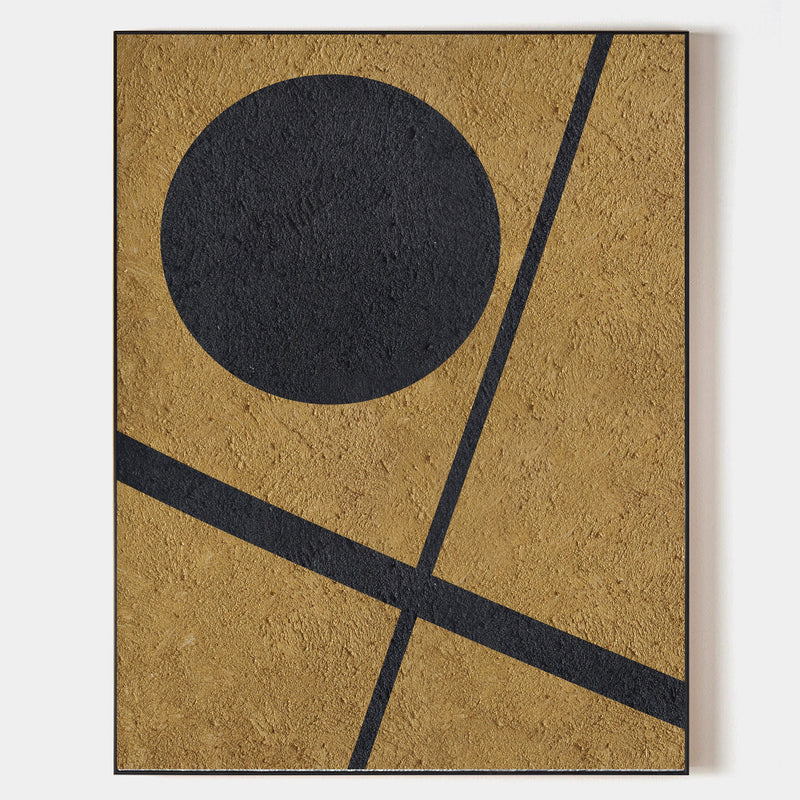 Modern Art Minimalist Painting Abstract Minimal Art Black And Gold Abstract
