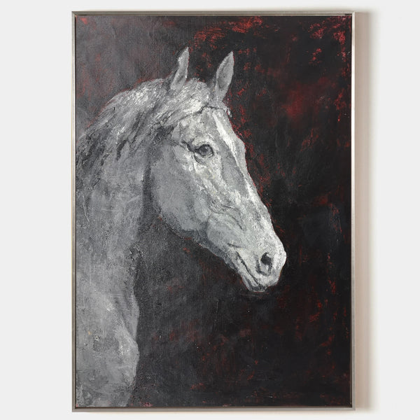 Horse Portrait Painting black and white horse Art Paintings Of Horses Heads