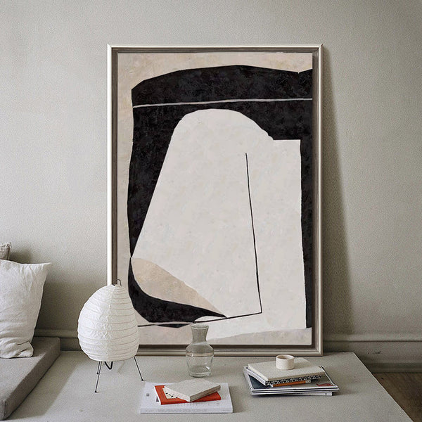 Large Minimalist Art Original Beige Minimalist Painting Big Modern Paintings