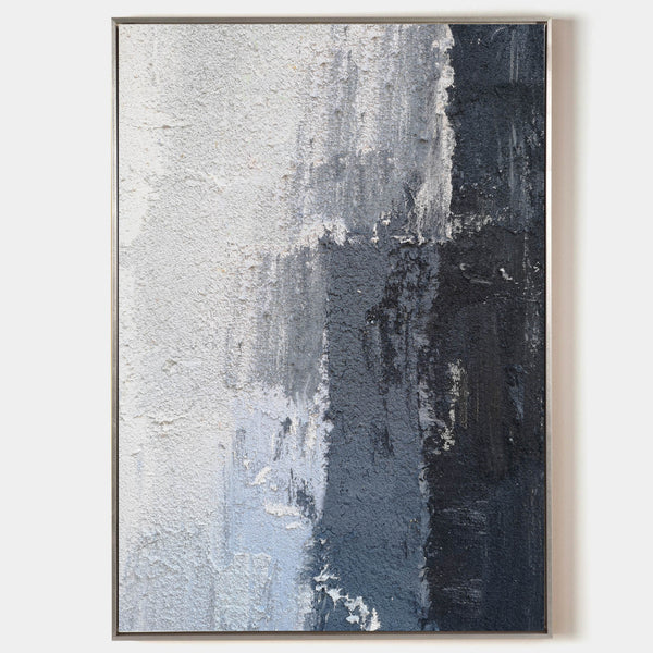 Minimalist Abstract Painting Large Black White And Grey Abstract Canvas Art Extra Large Textured Abstract Painting Impressionism Abstract
