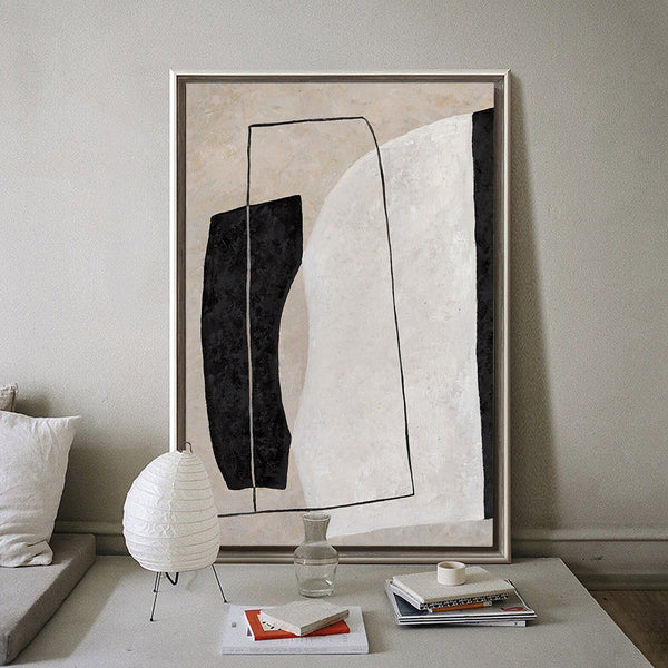 Modern Minimalist Abstract Painting Large Canvas Abstract Art Beige White