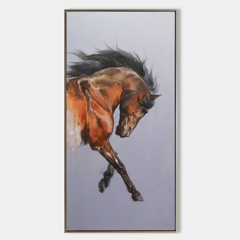 Modern Horse Art Equestrian Painting Contemporary Horse Art Framed Horse Wall Art
