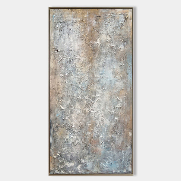 Large Textured Brown Abstract Painting For Living Room Oversized Modern Wall Art