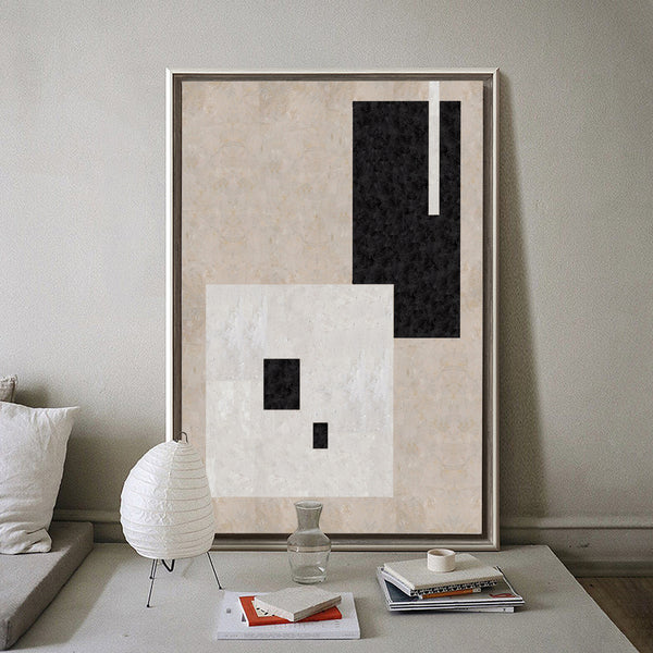 Geometric Minimal Art Large Abstract Painting Modern Painting For Bedroom