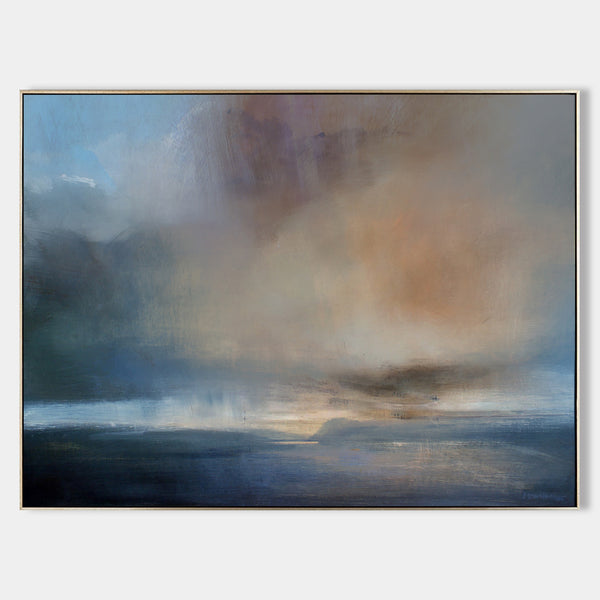 Large Seascape Wall Art Oversized Beach Wall Art Horizontal Coastal Wall Art