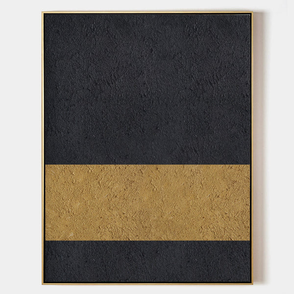 Gold Minimalist Painting Modern Abstract Minimalist Art Art For Room Decor