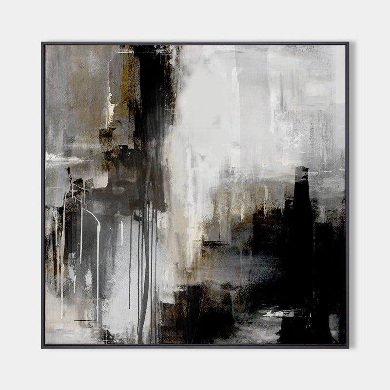 Black And Grey Abstract Art Extra Large Square Abstract Art Huge Canvas Art