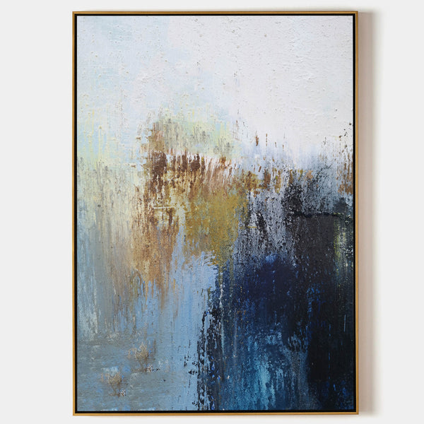 Large Modern Abstract Painting Original Blue And Yellow Abstract Paintings On Canvas Extra Large Abstract Acrylic Painting For Living Room