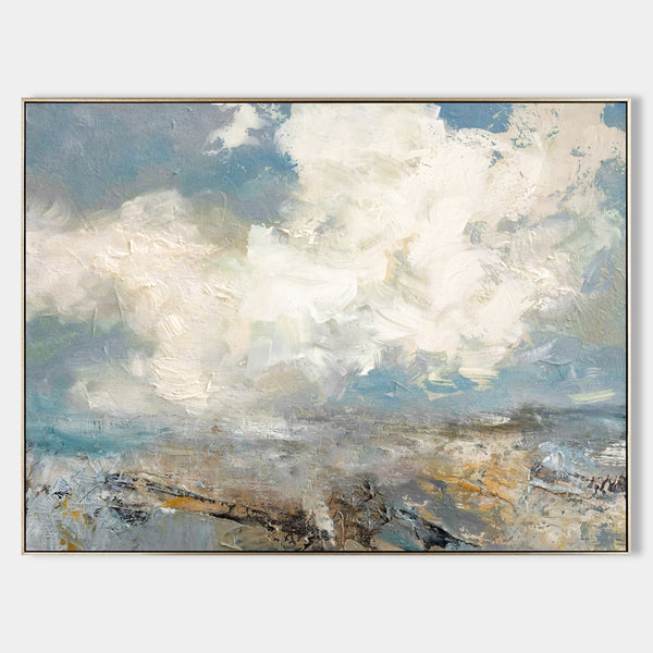 Modern Beach Artwork Large Abstract Beach Wall Art Contemporary Seascape Paintings