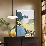 Acrylic Abstract Landscape Painting Gold Leaf Abstract Wall Art For Living Room