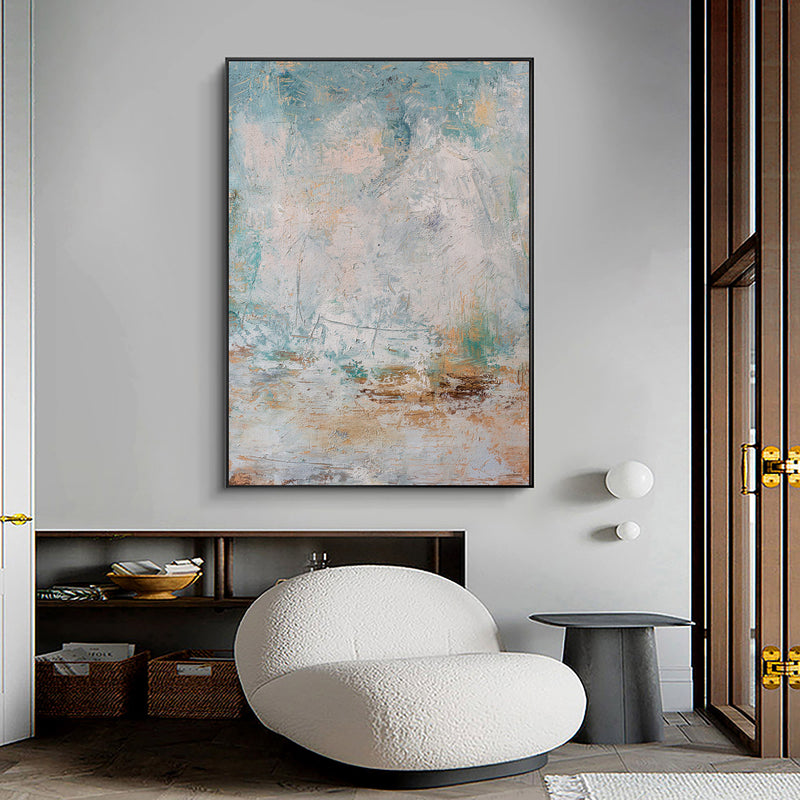 Contemporary Abstract Painting Large Vertical Wall Art Living Room Canvas Art