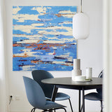 Modern Seascape Paintings Abstract Ocean painting Coastal Abstract Canvas Art