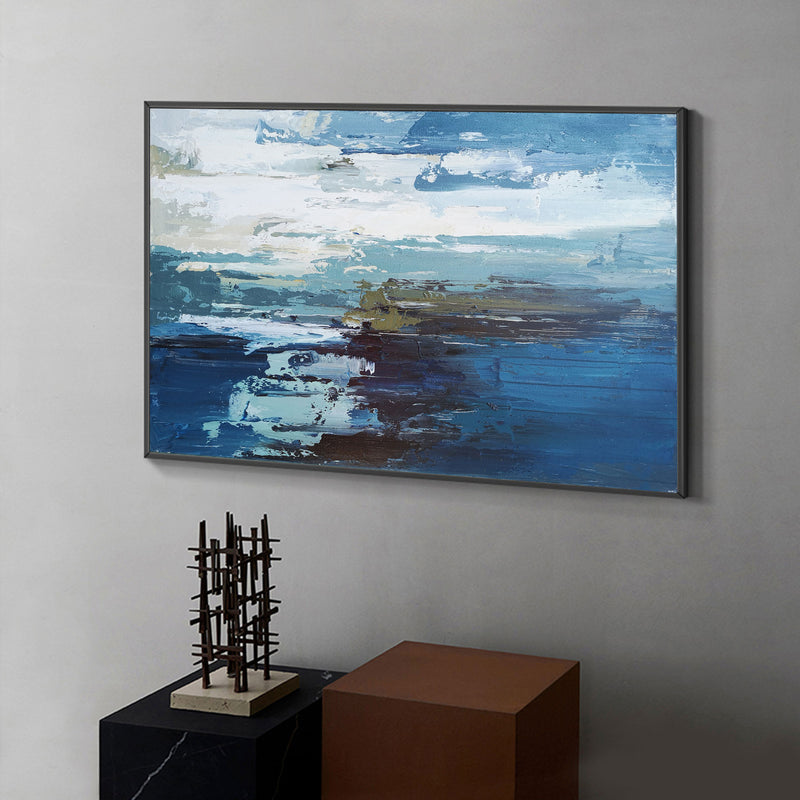 Abstract Ocean Painting Large Acrylic Seascape Paintings Huge Beach Canvas Art