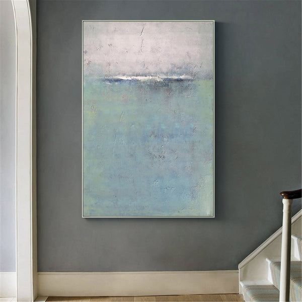 Abstract Ocean Painting Coastal Wall Art Acrylic Seascape Paintings