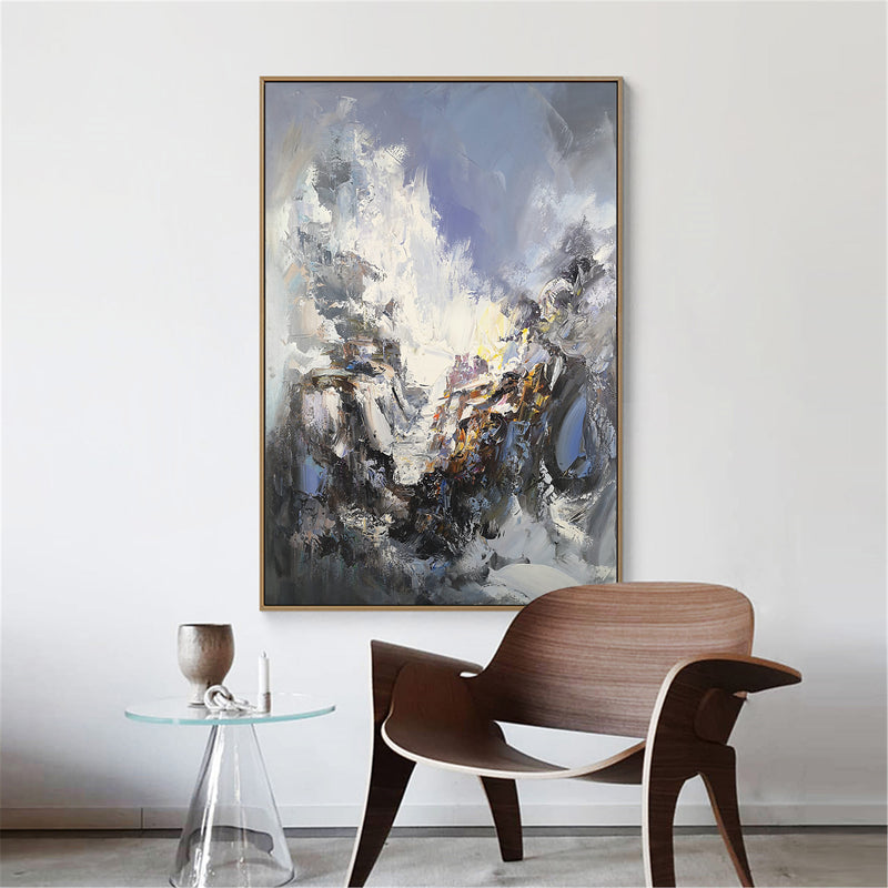 Modern Abstract Wall Art Textured Abstract Painting Oversized Canvas Art