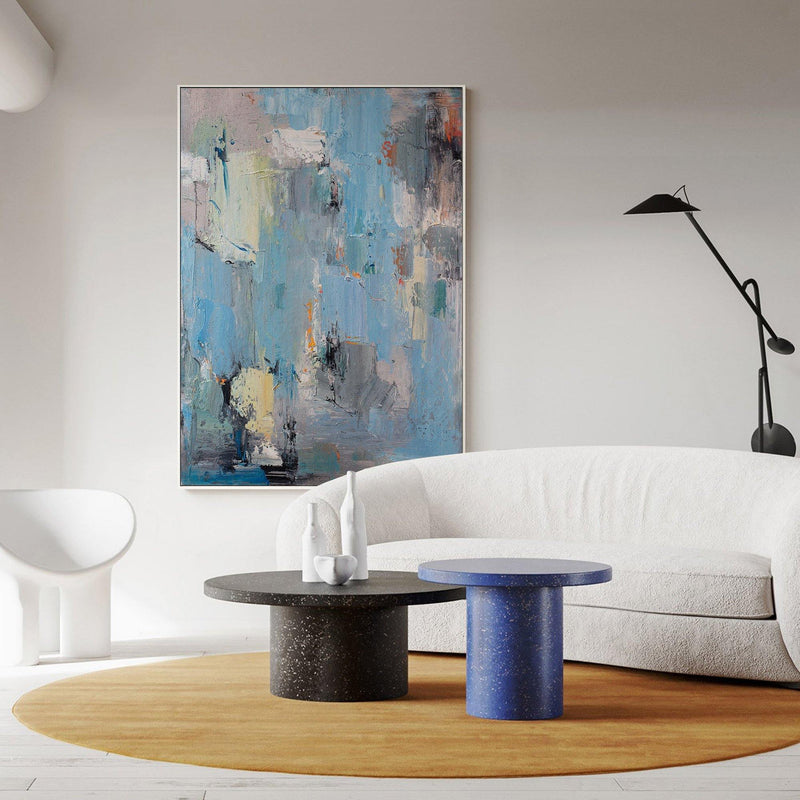 Large Modern Abstract Artwork Original Blue Abstract Canvas Wall Art
