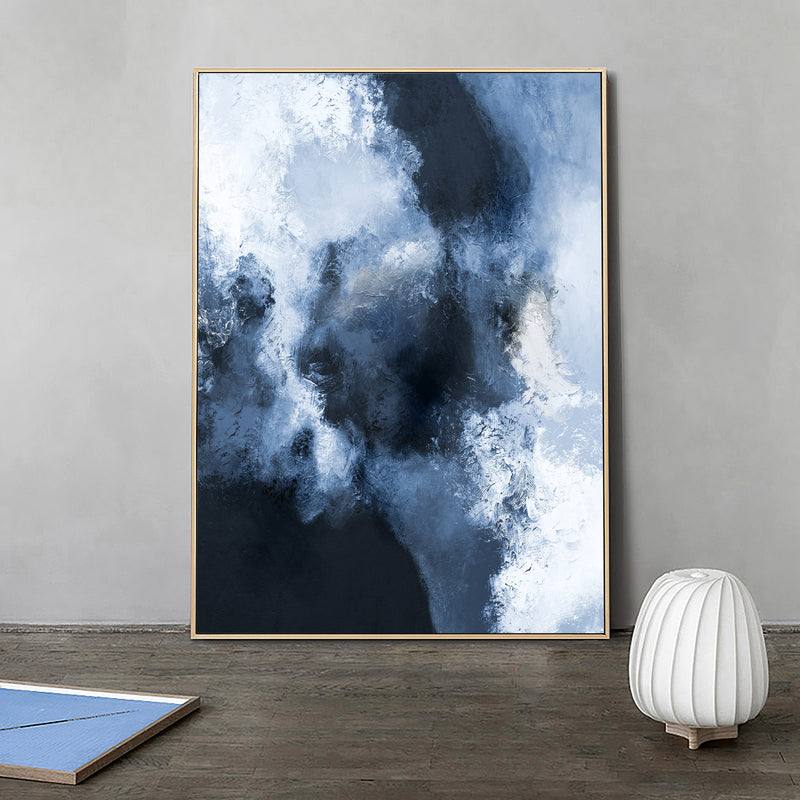Large Blue Abstract Art Navy Nlue Abstract Wall Art Canvas Big Blue Painting