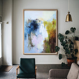 Large Abstract Seascape Painting On Canvas Huge Beach Wall Art Canvas