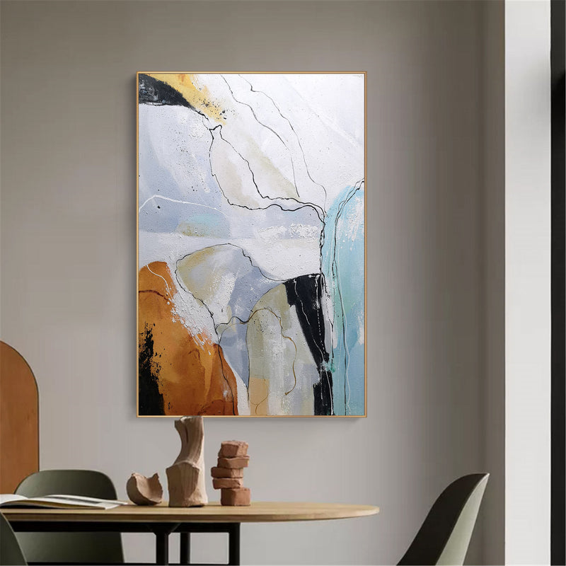Hand Painted Large Modern Abstract Wall Art Abstract Wall Art For Living Room