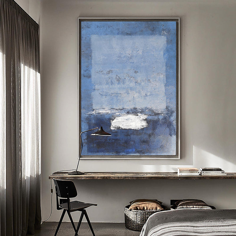 Blue Minimalist Art Large Minimalist Wall Art Contemporary Abstract Paintings