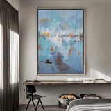 Big Acrylic Seascape Abstract Paintings Extra Large Coastal Wall Art Canvas