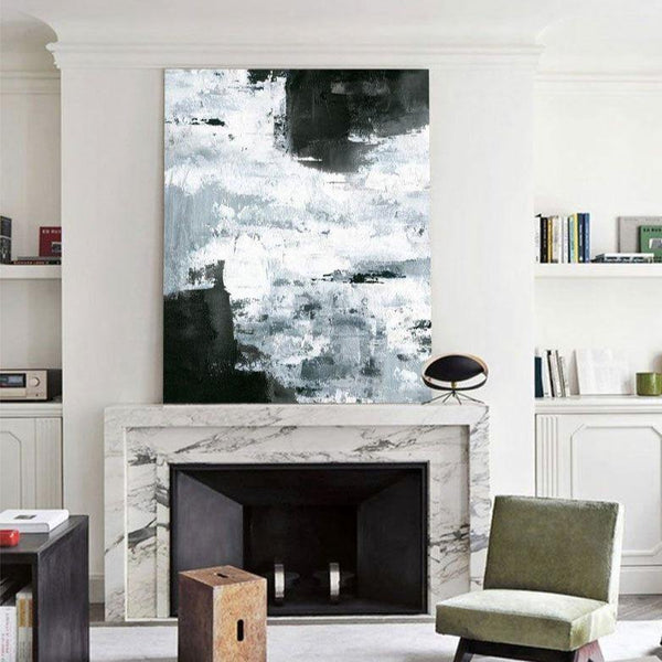 Large Modern Abstract Painting Office Wall Art Original Abstract Textured Art