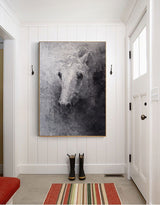 [PRODUBlack White Abstract Horse Painting Original Animal Painting horse Portrait PaintingCT_TITLE]-[SHOP_NAME]