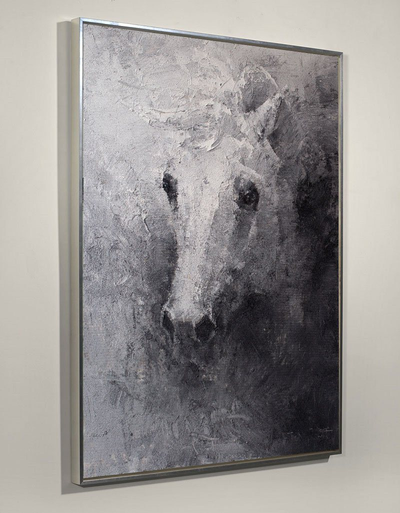 Black White Abstract Horse Painting Original Animal Painting Horse Portrait Painting Horse Wall Art Large Horse Art On Canvas Modern Horse Art Artexplore