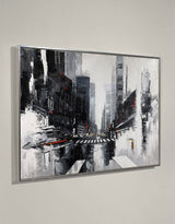 Acrylic City Landscape Painting Big Abstract Cityscape Painting Black And White