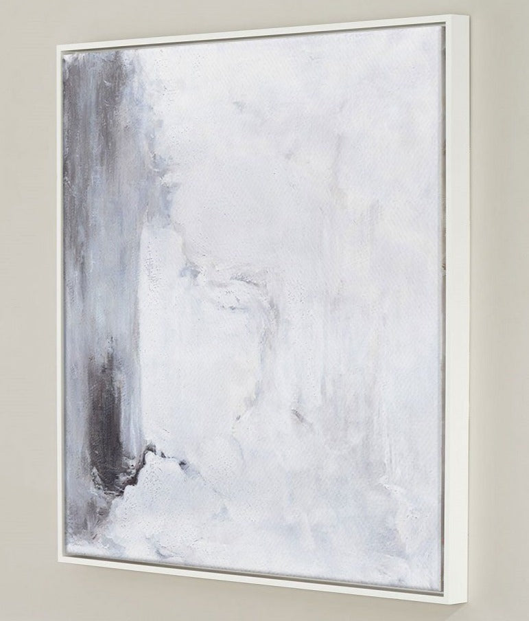 Large Grey And White Painting Modern Minimalist Art Minimal Art Painting