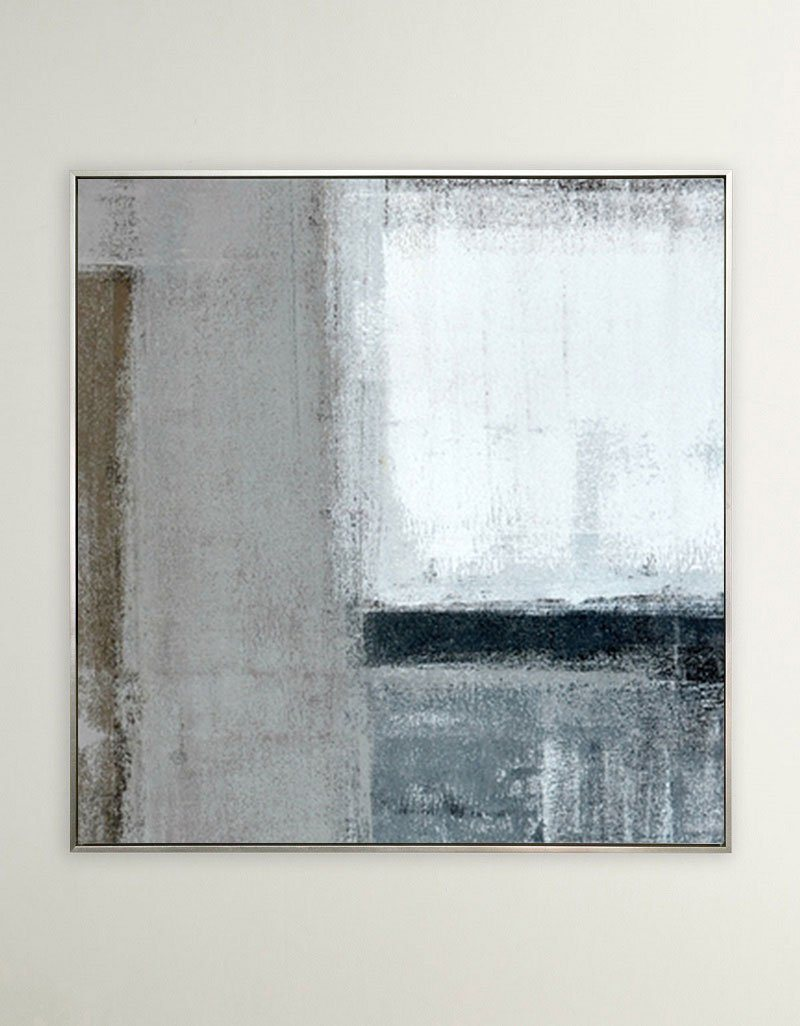 Minimalist Canvas Wall Art Modern Geometric Art Large Abstract Painting Canvas