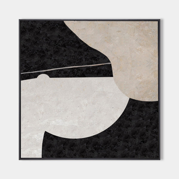 Large Minimalist Art Beige Canvas Wall Art Square Abstract Art