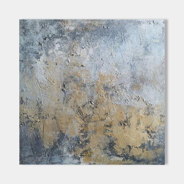 Square Abstract Canvas Wall Art For Living Room Modern Canvas Painting
