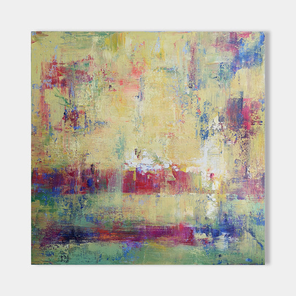 40 x 40 Square Abstract Canvas Wall Art Modern Paintings For Living Room