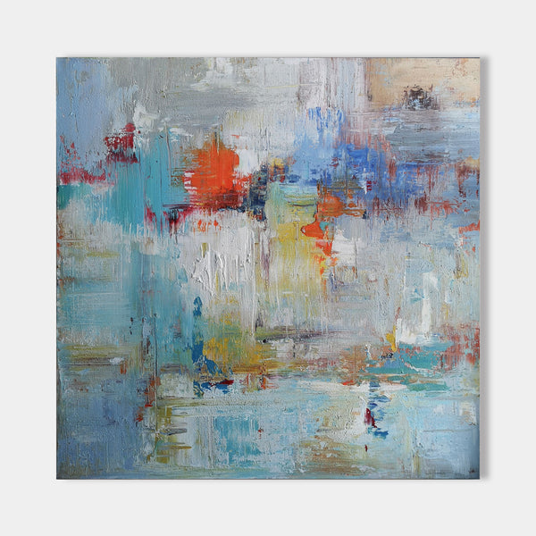 40 x 40 Wall Art Colorful Canvas Art Modern Abstract Painting