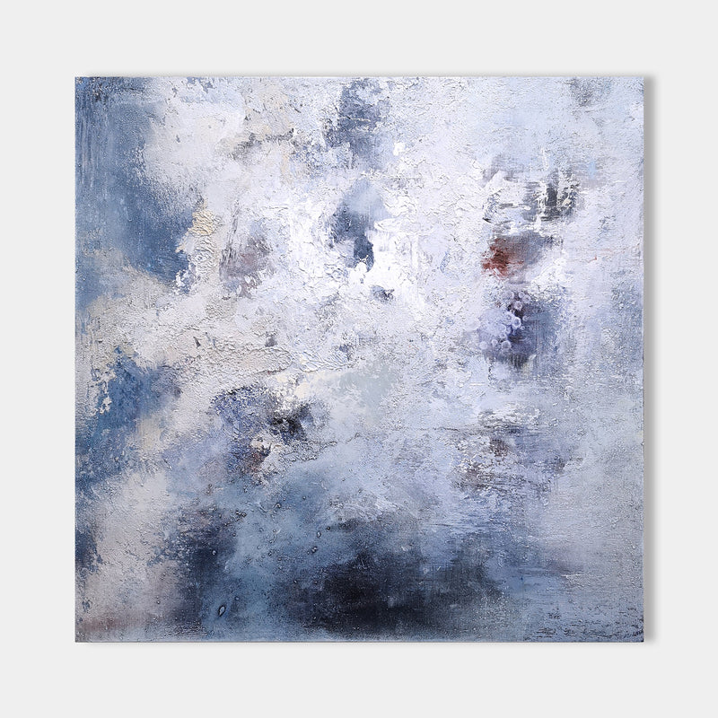 Blue And White Abstract Canvas Art Original Abstract Paintings For Sale 40 x 40