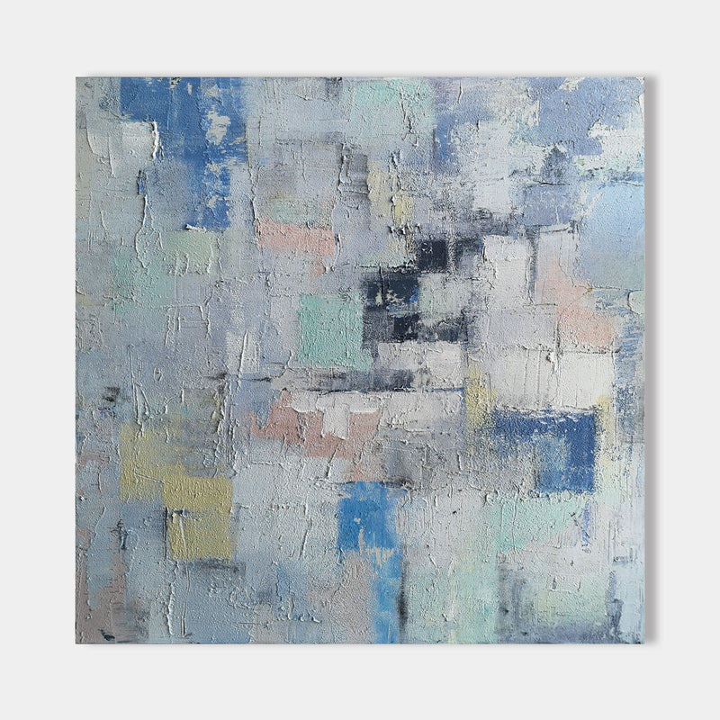 40 x 40 Colorful Abstract Painting Abstract Geometric Art For Bedroom