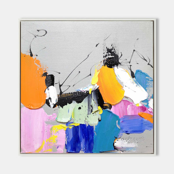 Colorful Wall Art Canvas Extra Large Multicolor Wall Painting Textured