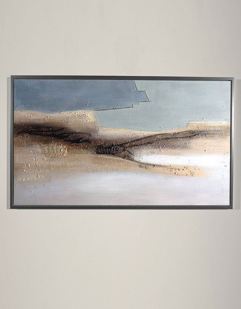 Panoramic Abstract Beach wall Art Large Coastal Art Huge Minimalist Beach Painting